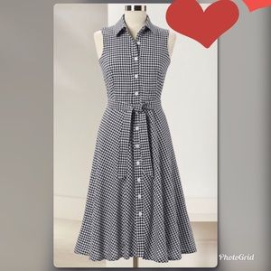 Northstyle Gingham Midi Dress